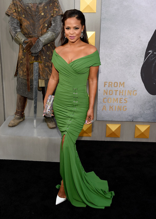 ". Christina Milian arrives at the world premiere of ""King Arthur: Legend of the Sword\"" at the TCL Chinese Theatre on Monday, May 8, 2017, in Los Angeles. (Photo by Chris Pizzello/Invision/AP)"