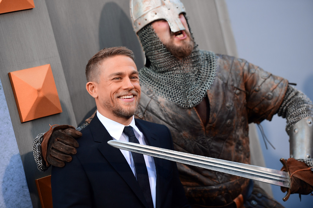 ". HOLLYWOOD, CA - MAY 08:  Actor Charlie Hunnam attends the premiere of Warner Bros. Pictures\' ""King Arthur: Legend Of The Sword\"" at TCL Chinese Theatre on May 8, 2017 in Hollywood, California.  (Photo by Matt Winkelmeyer/Getty Images)"