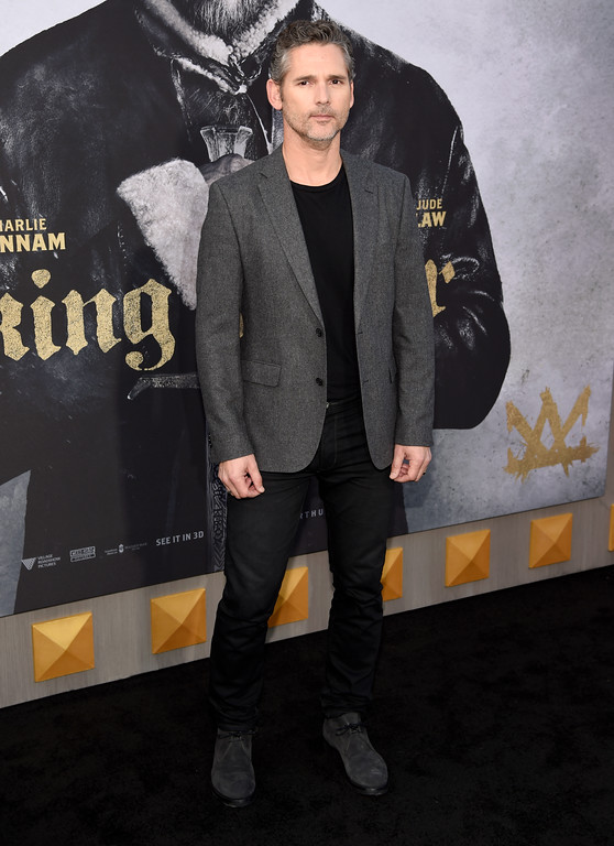 ". Eric Bana arrives at the world premiere of ""King Arthur: Legend of the Sword\"" at the TCL Chinese Theatre on Monday, May 8, 2017, in Los Angeles. (Photo by Chris Pizzello/Invision/AP)"