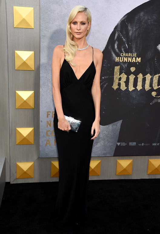 ". Poppy Delevingne arrives at the world premiere of ""King Arthur: Legend of the Sword\"" at the TCL Chinese Theatre on Monday, May 8, 2017, in Los Angeles. (Photo by Chris Pizzello/Invision/AP)"