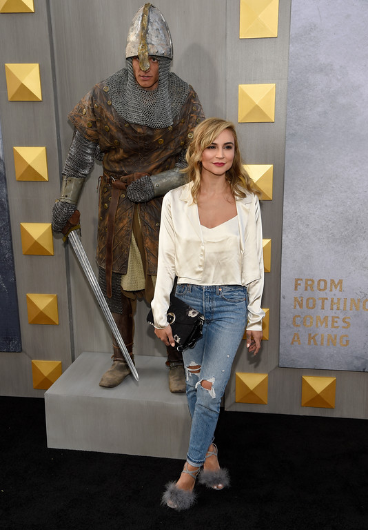 ". Samaire Armstrong arrives at the world premiere of ""King Arthur: Legend of the Sword\"" at the TCL Chinese Theatre on Monday, May 8, 2017, in Los Angeles. (Photo by Chris Pizzello/Invision/AP)"