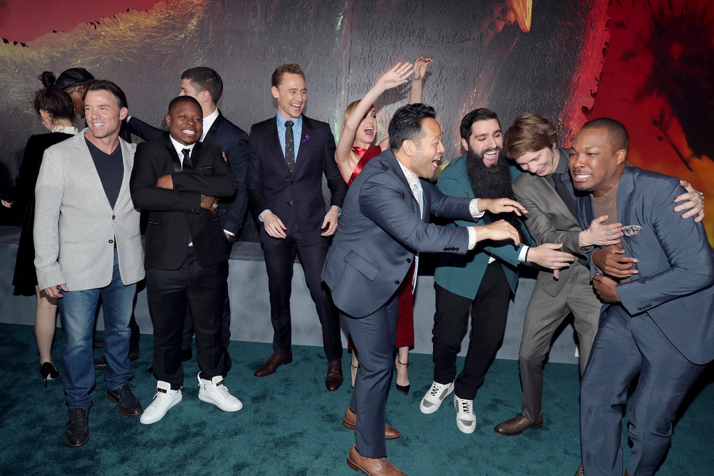 ". Cast of ""Kong: Skull Island\"" seen at Warner Bros. Pictures and Legendary Pictures Present the Los Angeles Premiere of \""Kong: Skull Island\"" at Dolby Theatre on Wednesday, March 8, 2017, in Los Angeles. (Photo by Eric Charbonneau/Invision for Warner Bros./AP Images)"