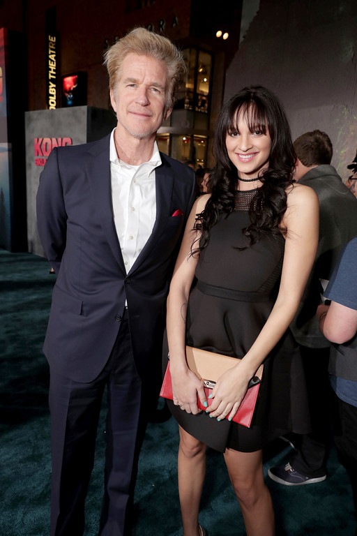 ". Matthew Modine and Ruby Modine seen at Warner Bros. Pictures and Legendary Pictures Present the Los Angeles Premiere of ""Kong: Skull Island\"" at Dolby Theatre on Wednesday, March 8, 2017, in Los Angeles. (Photo by Eric Charbonneau/Invision for Warner Bros./AP Images)"