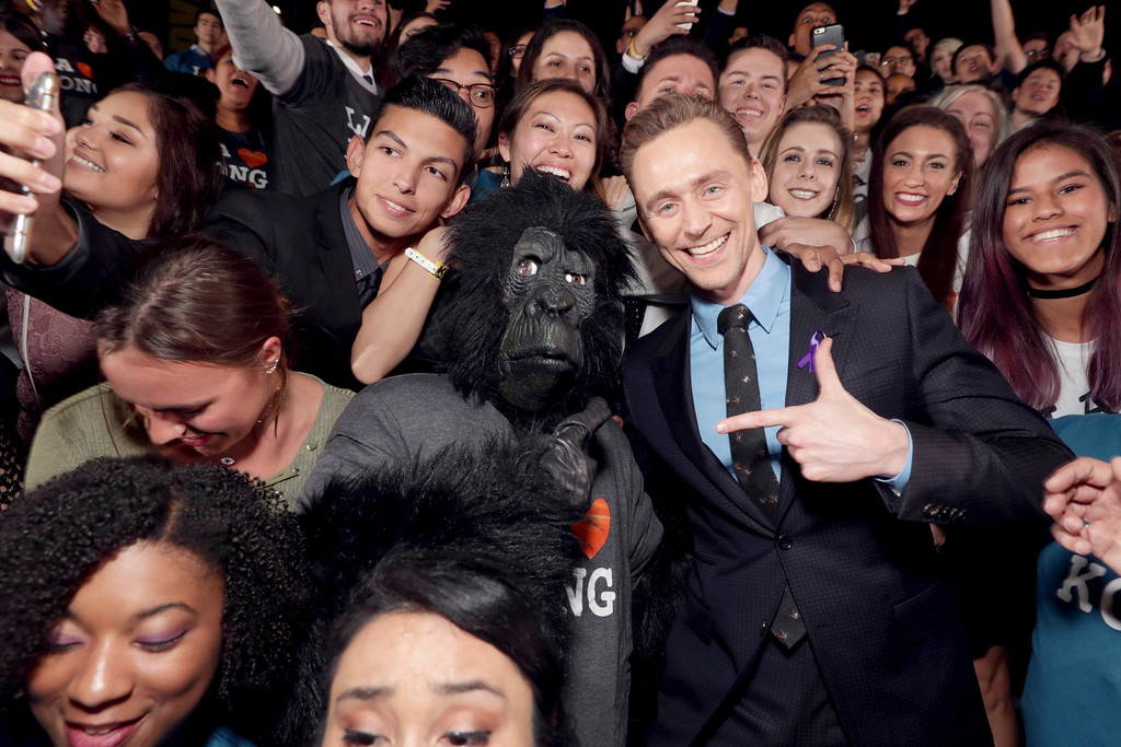 ". Tom Hiddleston seen at Warner Bros. Pictures and Legendary Pictures Present the Los Angeles Premiere of ""Kong: Skull Island\"" at Dolby Theatre on Wednesday, March 8, 2017, in Los Angeles. (Photo by Eric Charbonneau/Invision for Warner Bros./AP Images)"
