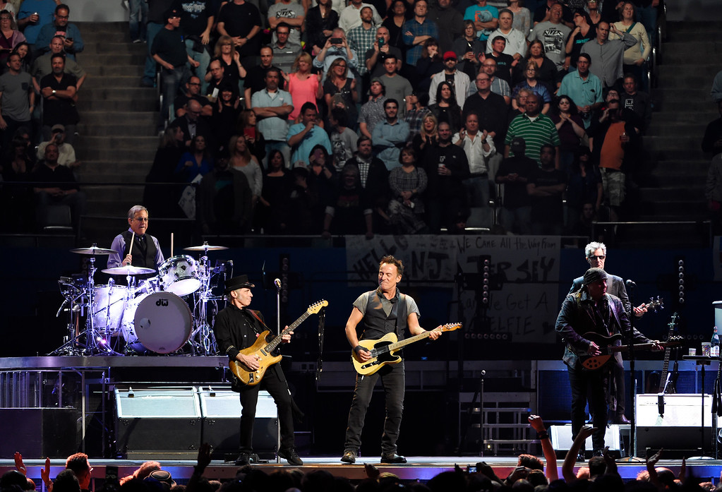. Bruce Springsteen and the E Street Band perform at the Los Angeles Sports Arena on Tuesday, March 15, 2016, in Los Angeles. (Photo by Chris Pizzello/Invision/AP)