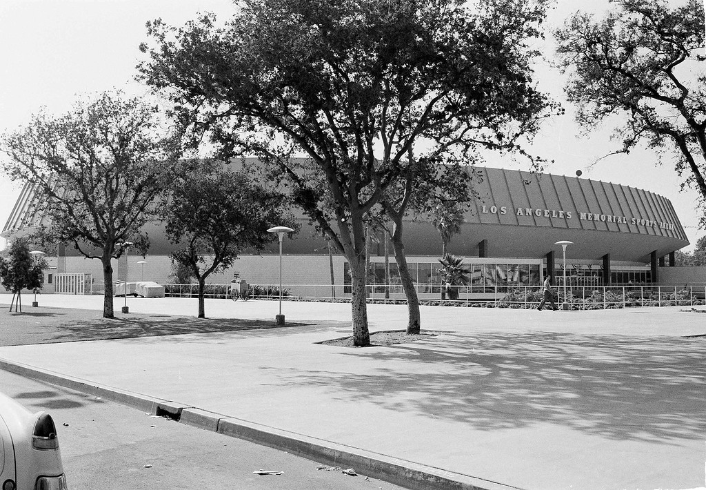 . The Los Angeles Sports Arena where the Democratic National Convention will convene to select the party\'s U.S. presidential and vice-presidential candidates for the November elections. July 9, 1960 photo. The Los Angeles Memorial Sports Arena is about to become just a memory. City leaders are holding a closing ceremony Thursday, May 12, 2016, for the building that hosted to some of the 20th century\'s biggest moments in sports, politics and rock \'n\' roll. (AP Photo)