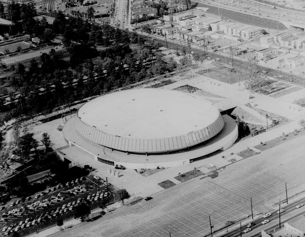 . This is a May 20, 1960 photo of The Los Angeles Sports Arena. (AP Photo)