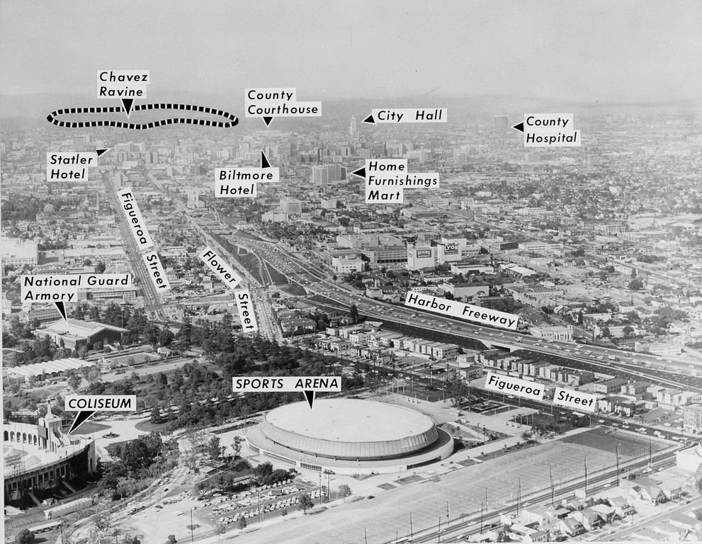 . This diagramed air view shows the Los Angeles Sports Arena, June 30, 1960, site of the Democratic Party\'s 1960 National Convention beginning July 11, 1960. (AP Photo)