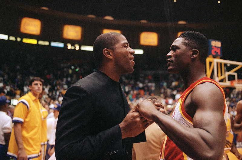 Earvin Magic Johnson and Dominique Wilkins