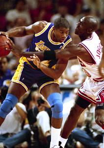 Lakers Bulls Jordan Johnson 1991