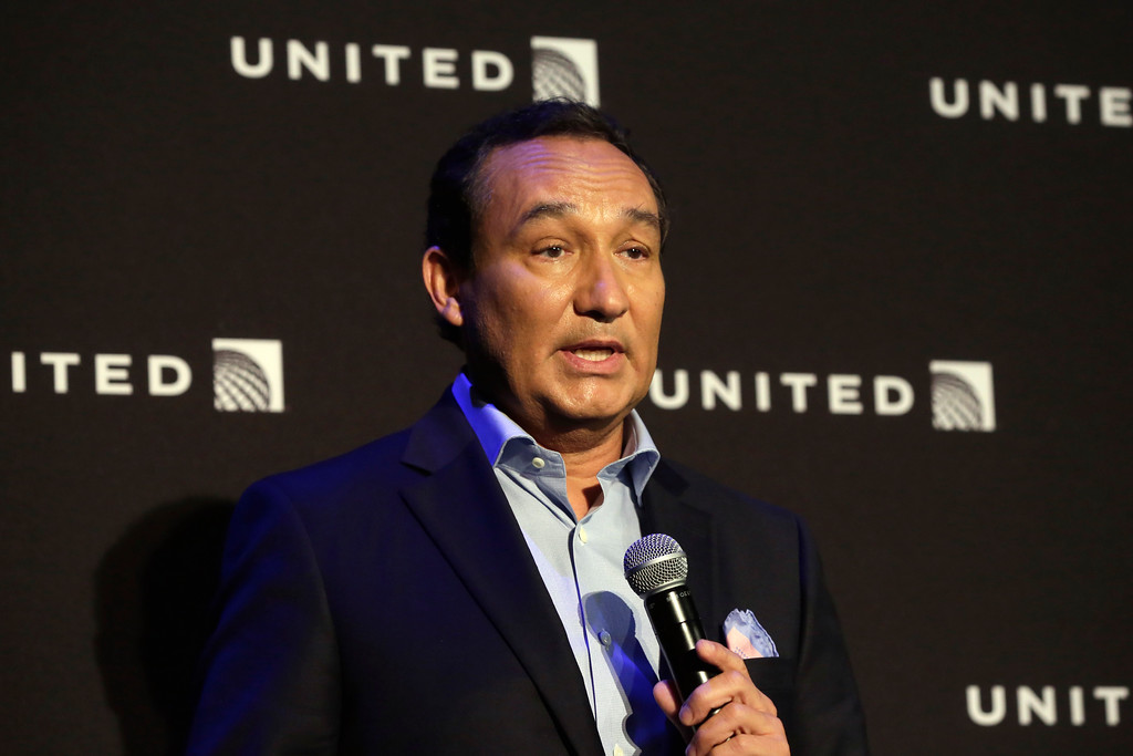 . In this 2016 photo, United Airlines CEO Oscar Munoz delivers remarks Thursday, June 2, 2016, in New York, during a presentation of the carrier\'s new Polaris service, a new business class product that will become available on trans-Atlantic flights. Video of police officers dragging a passenger from an overbooked United Airlines flight sparked an uproar Monday, April 10, 2017, on social media, but United\'s CEO defended his employees, saying they followed proper procedures and had no choice but to call authorities and remove the man. (AP Photo/Richard Drew)