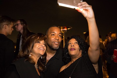 STAR: L-R: Debbie Allen and Co-Creator and Executive Producer Lee Daniels take pictures with fans who attended a screening and reception for STAR at Neuehouse Hollywood on Wednesday, Nov. 16, 2016 in Los Angeles, California. CR: Willy Sanjuan/Fox