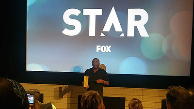 """Lee Daniels speaks to the audience before screening the pilot of his new television show """"Star"""" in Hollywood on Nov. 16, 2016. (Photo by Anita Bennett, Los Angeles Daily News/SCNG)"""