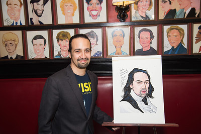 Lin-Manuel Miranda Sardi's Caricature Unveiling