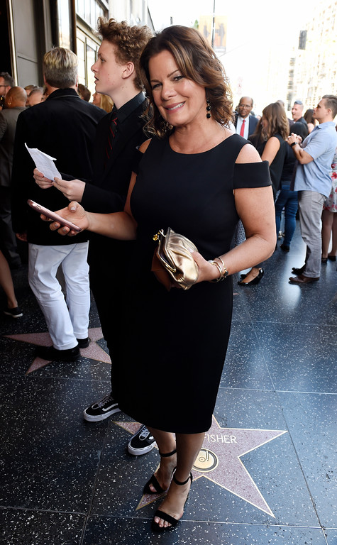 ". Actress Marcia Gay Harden arrives on the opening night of the Los Angeles run of ""Hamilton: An American Musical\"" at the Pantages Theatre on Wednesday, Aug. 16, 2017, in Los Angeles. (Photo by Chris Pizzello/Invision/AP)"