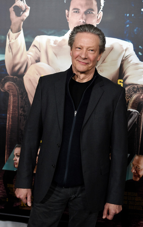 ". Chris Cooper, a cast member in ""Live by Night,\"" poses at the premiere of the film at the TCL Chinese Theatre on Monday, Jan. 9, 2017 in Los Angeles. (Photo by Chris Pizzello/Invision/AP)"