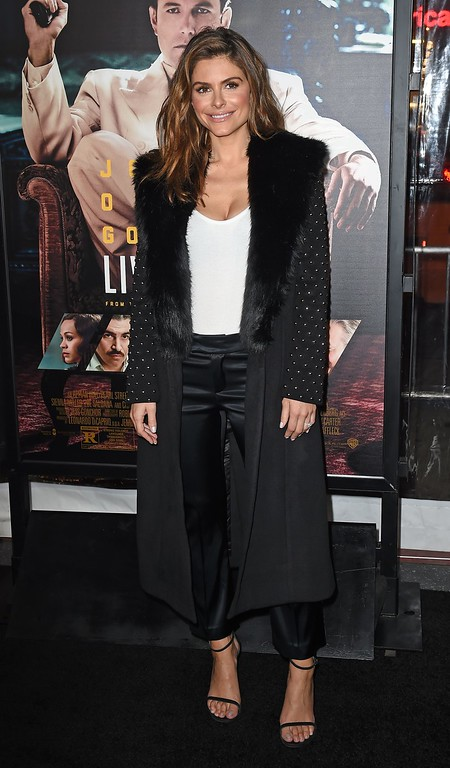 ". Actress Maria Menounos arrives for the world premiere of Warner Bros. ""Live By Night,\"" January 9, 2017 at the TCL Chinese Theater in Hollywood, California. / AFP / Robyn Beck        (Photo credit should read ROBYN BECK/AFP/Getty Images)"