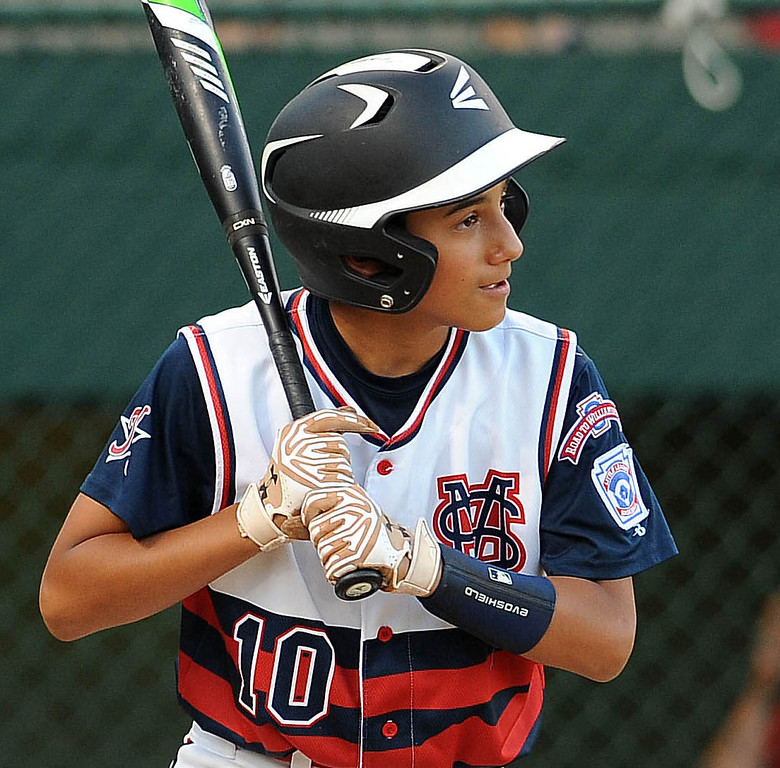 . <b>Bryan Ramirez</b> <br> Age: 12<br> Height, weight: 5-foot-5, 108 pounds<br> Position: Third Base/Outfield<br> School: Rancho Santa Margarita Intermediate<br> Favorite food: Pizza<br> Favorite sports team:  New York Yankees<br> Favorite player: Derek Jeter<br>  (Photo by Bill Alkofer, Orange County Register/SCNG)