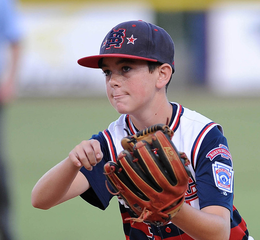 . <b>Tyler Ankrum</b> <br> Age: 13<br> Height, weight: 5-foot-2, 97 pounds<br> Position: Second Base<br> School: Rancho Santa Margarita Intermediate<br> Favorite food: Chicken fingers and cheese fries<br> Favorite sports team:  Angels<br> Favorite player: Bryce Harper<br> (Photo by Bill Alkofer, Orange County Register/SCNG)