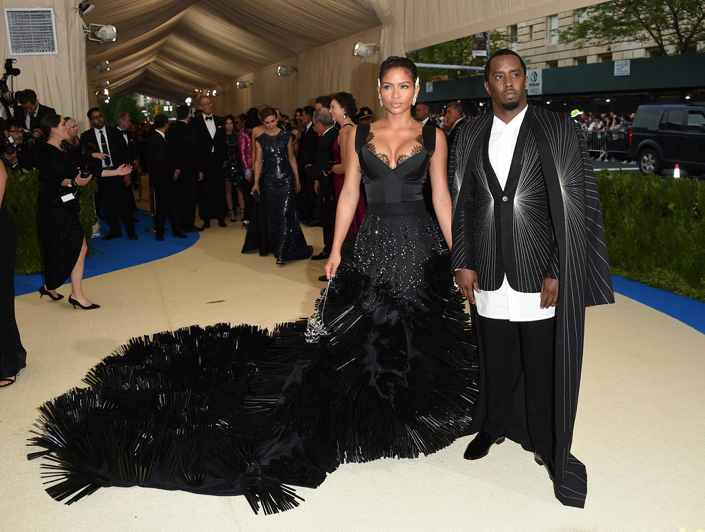 . Sean Combs right, and, Cassie attend The Metropolitan Museum of Art\'s Costume Institute benefit gala celebrating the opening of the Rei Kawakubo/Comme des Garçons: Art of the In-Between exhibition on Monday, May 1, 2017, in New York. (Photo by Evan Agostini/Invision/AP)