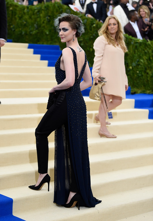 . Evan Rachel Wood attends The Metropolitan Museum of Art\'s Costume Institute benefit gala celebrating the opening of the Rei Kawakubo/Comme des Garçons: Art of the In-Between exhibition on Monday, May 1, 2017, in New York. (Photo by Evan Agostini/Invision/AP)
