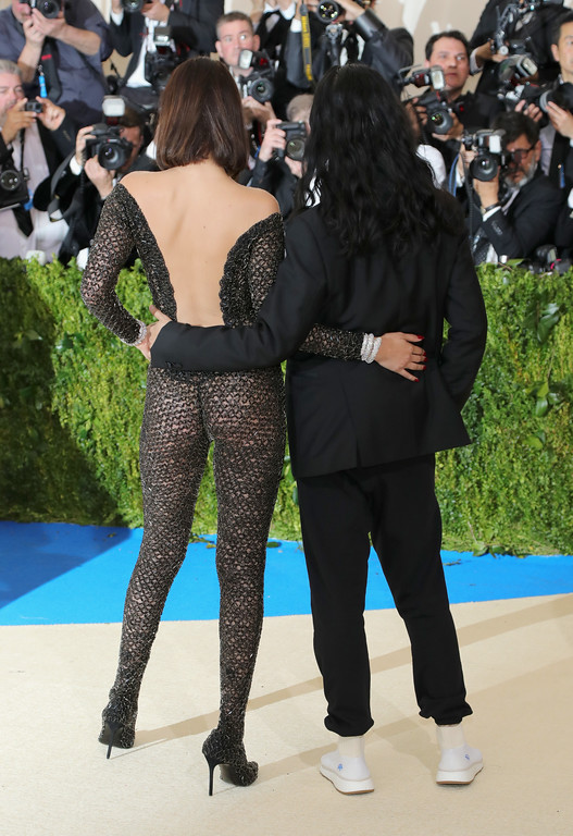 """. NEW YORK, NY - MAY 01:  Bella Hadid and Alexander Wang attend the \""""Rei Kawakubo/Comme des Garcons: Art Of The In-Between\"""" Costume Institute Gala at Metropolitan Museum of Art on May 1, 2017 in New York City.  (Photo by Neilson Barnard/Getty Images)"""