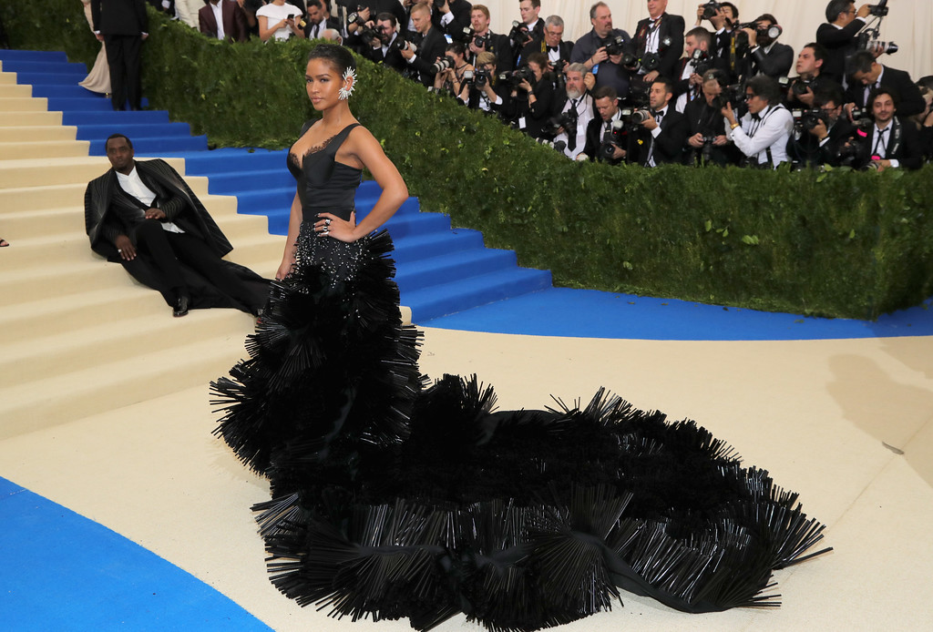 """. NEW YORK, NY - MAY 01:   Sean \""""Diddy\"""" Combs (L) and Cassie attend the \""""Rei Kawakubo/Comme des Garcons: Art Of The In-Between\"""" Costume Institute Gala at Metropolitan Museum of Art on May 1, 2017 in New York City.  (Photo by Neilson Barnard/Getty Images)"""