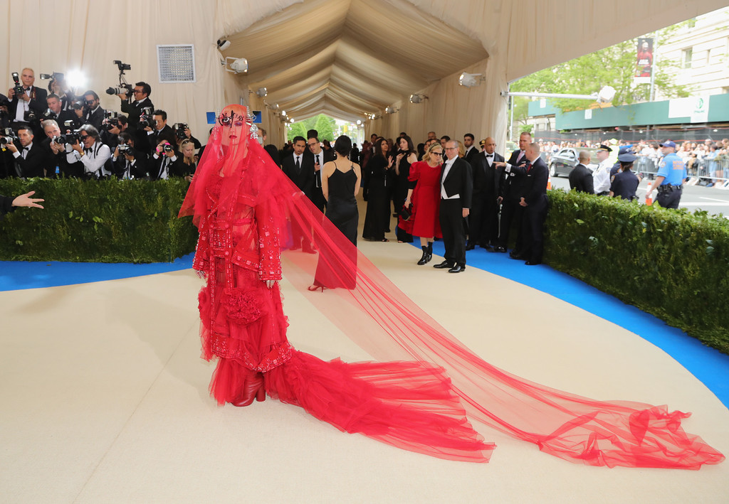 """. NEW YORK, NY - MAY 01:  Katy Perry attends the \""""Rei Kawakubo/Comme des Garcons: Art Of The In-Between\"""" Costume Institute Gala at Metropolitan Museum of Art on May 1, 2017 in New York City.  (Photo by Neilson Barnard/Getty Images)"""