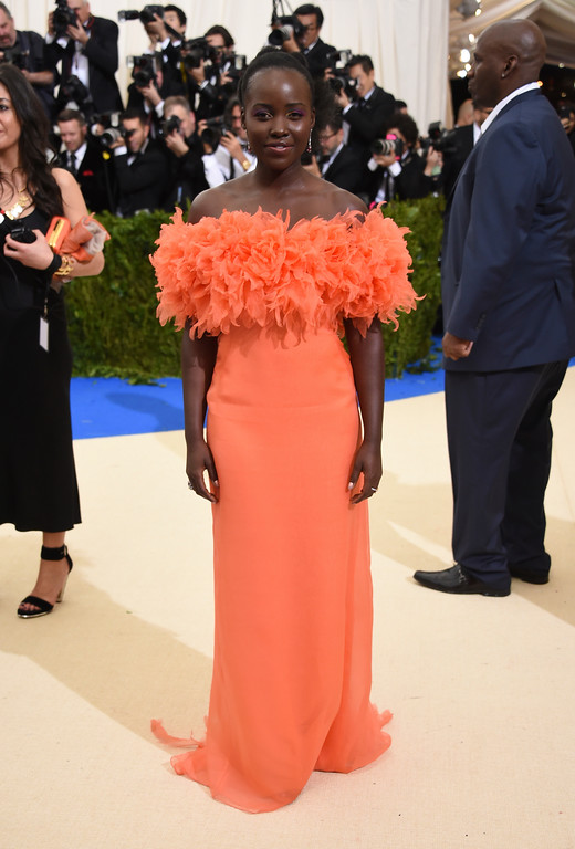 . Lupita Nyong\'o attends The Metropolitan Museum of Art\'s Costume Institute benefit gala celebrating the opening of the Rei Kawakubo/Comme des Garçons: Art of the In-Between exhibition on Monday, May 1, 2017, in New York. (Photo by Evan Agostini/Invision/AP)