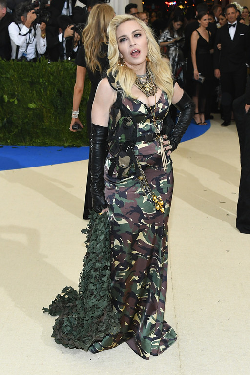 """. NEW YORK, NY - MAY 01:  Madonna attends the \""""Rei Kawakubo/Comme des Garcons: Art Of The In-Between\"""" Costume Institute Gala at Metropolitan Museum of Art on May 1, 2017 in New York City.  (Photo by Dia Dipasupil/Getty Images For Entertainment Weekly)"""
