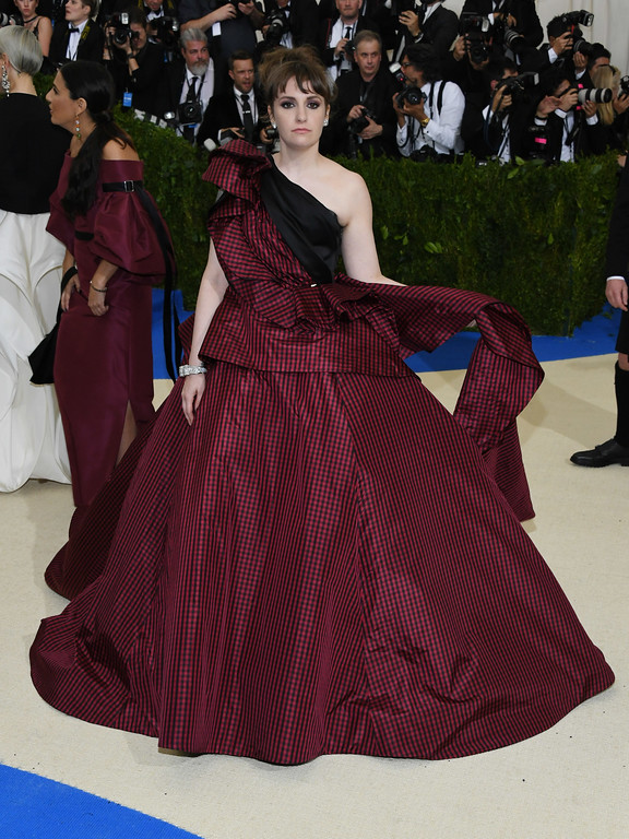 """. NEW YORK, NY - MAY 01:  Lena Dunham attends the \""""Rei Kawakubo/Comme des Garcons: Art Of The In-Between\"""" Costume Institute Gala at Metropolitan Museum of Art on May 1, 2017 in New York City.  (Photo by Dia Dipasupil/Getty Images For Entertainment Weekly)"""