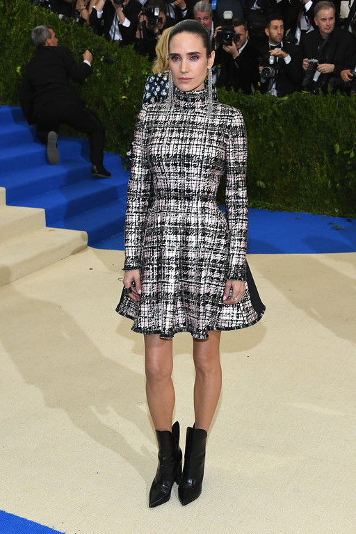 """. NEW YORK, NY - MAY 01: Jennifer Connelly attends the \""""Rei Kawakubo/Comme des Garcons: Art Of The In-Between\"""" Costume Institute Gala at Metropolitan Museum of Art on May 1, 2017 in New York City.  (Photo by Dia Dipasupil/Getty Images For Entertainment Weekly)"""