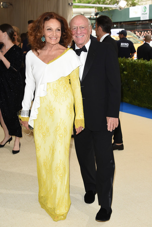 . Diane von Furstenberg and Barry Diller attend The Metropolitan Museum of Art\'s Costume Institute benefit gala celebrating the opening of the Rei Kawakubo/Comme des Garçons: Art of the In-Between exhibition on Monday, May 1, 2017, in New York. (Photo by Evan Agostini/Invision/AP)