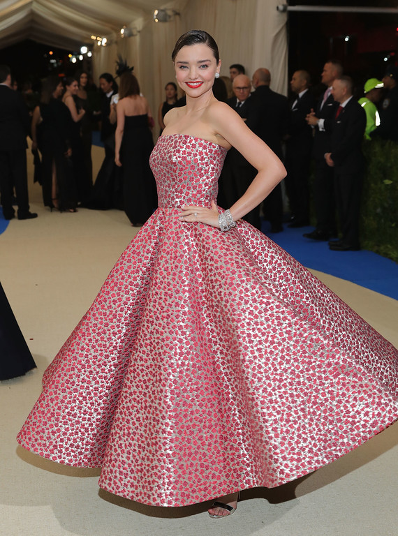 """. NEW YORK, NY - MAY 01:  Miranda Kerr attends the \""""Rei Kawakubo/Comme des Garcons: Art Of The In-Between\"""" Costume Institute Gala at Metropolitan Museum of Art on May 1, 2017 in New York City.  (Photo by Neilson Barnard/Getty Images)"""