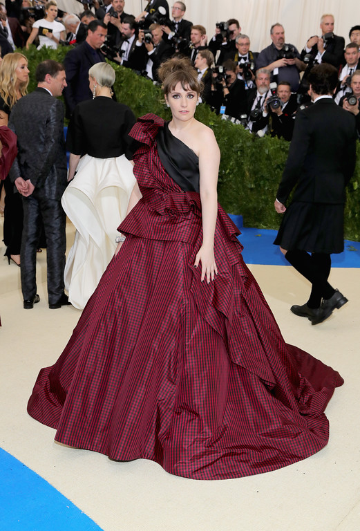 """. NEW YORK, NY - MAY 01:  Lena Dunham attends the \""""Rei Kawakubo/Comme des Garcons: Art Of The In-Between\"""" Costume Institute Gala at Metropolitan Museum of Art on May 1, 2017 in New York City.  (Photo by Neilson Barnard/Getty Images)"""