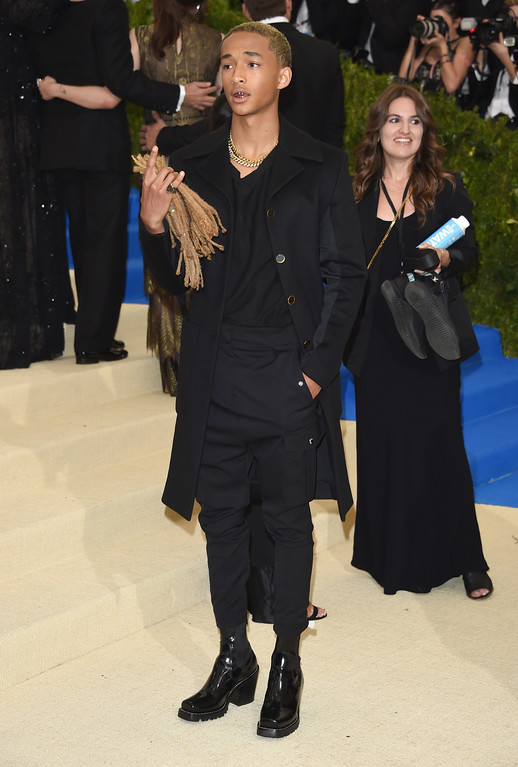 . Jaden Smith attends The Metropolitan Museum of Art\'s Costume Institute benefit gala celebrating the opening of the Rei Kawakubo/Comme des Garçons: Art of the In-Between exhibition on Monday, May 1, 2017, in New York. (Photo by Evan Agostini/Invision/AP)