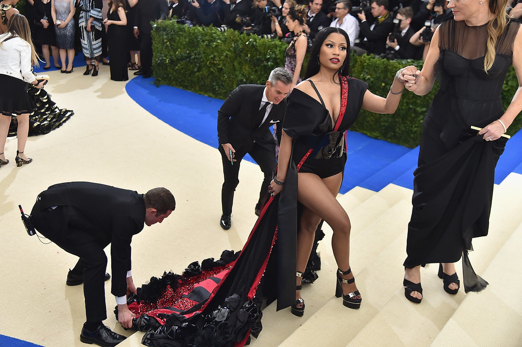 """. NEW YORK, NY - MAY 01:  Nicki Minaj attends the \""""Rei Kawakubo/Comme des Garcons: Art Of The In-Between\"""" Costume Institute Gala at Metropolitan Museum of Art on May 1, 2017 in New York City.  (Photo by Theo Wargo/Getty Images For US Weekly)"""