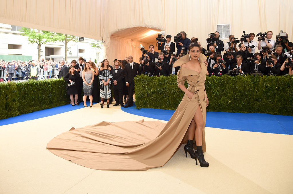 """. NEW YORK, NY - MAY 01:  Priyanka Chopra attends the \""""Rei Kawakubo/Comme des Garcons: Art Of The In-Between\"""" Costume Institute Gala at Metropolitan Museum of Art on May 1, 2017 in New York City.  (Photo by Dimitrios Kambouris/Getty Images)"""