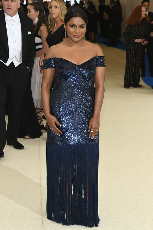 """. NEW YORK, NY - MAY 01:  Mindy Kaling attends the \""""Rei Kawakubo/Comme des Garcons: Art Of The In-Between\"""" Costume Institute Gala at Metropolitan Museum of Art on May 1, 2017 in New York City.  (Photo by Dia Dipasupil/Getty Images For Entertainment Weekly)"""