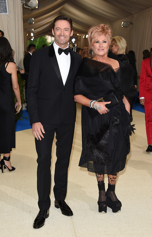 . Hugh Jackman and Deborra-Lee Furness attend The Metropolitan Museum of Art\'s Costume Institute benefit gala celebrating the opening of the Rei Kawakubo/Comme des Garçons: Art of the In-Between exhibition on Monday, May 1, 2017, in New York. (Photo by Evan Agostini/Invision/AP)