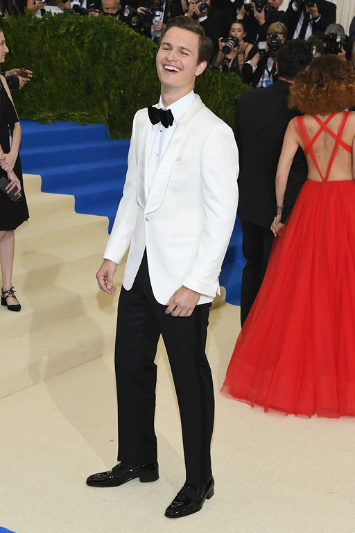 """. NEW YORK, NY - MAY 01:  Ansel Elgort attends the \""""Rei Kawakubo/Comme des Garcons: Art Of The In-Between\"""" Costume Institute Gala at Metropolitan Museum of Art on May 1, 2017 in New York City.  (Photo by Dia Dipasupil/Getty Images For Entertainment Weekly)"""