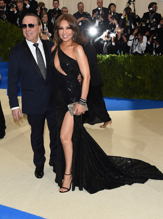 . Tommy Mottola, left, and Thalia attend The Metropolitan Museum of Art\'s Costume Institute benefit gala celebrating the opening of the Rei Kawakubo/Comme des Garçons: Art of the In-Between exhibition on Monday, May 1, 2017, in New York. (Photo by Evan Agostini/Invision/AP)