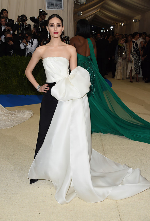 . Emmy Rossum attends The Metropolitan Museum of Art\'s Costume Institute benefit gala celebrating the opening of the Rei Kawakubo/Comme des Garçons: Art of the In-Between exhibition on Monday, May 1, 2017, in New York. (Photo by Evan Agostini/Invision/AP)
