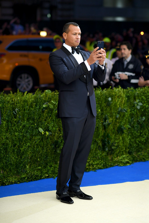 """. NEW YORK, NY - MAY 01: Alex Rodriguez attends the \""""Rei Kawakubo/Comme des Garcons: Art Of The In-Between\"""" Costume Institute Gala at Metropolitan Museum of Art on May 1, 2017 in New York City.  (Photo by Dimitrios Kambouris/Getty Images)"""
