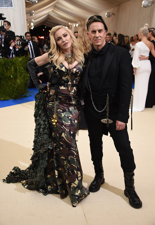 . Madonna, left, and Jeremy Scott attends The Metropolitan Museum of Art\'s Costume Institute benefit gala celebrating the opening of the Rei Kawakubo/Comme des Garçons: Art of the In-Between exhibition on Monday, May 1, 2017, in New York. (Photo by Evan Agostini/Invision/AP)
