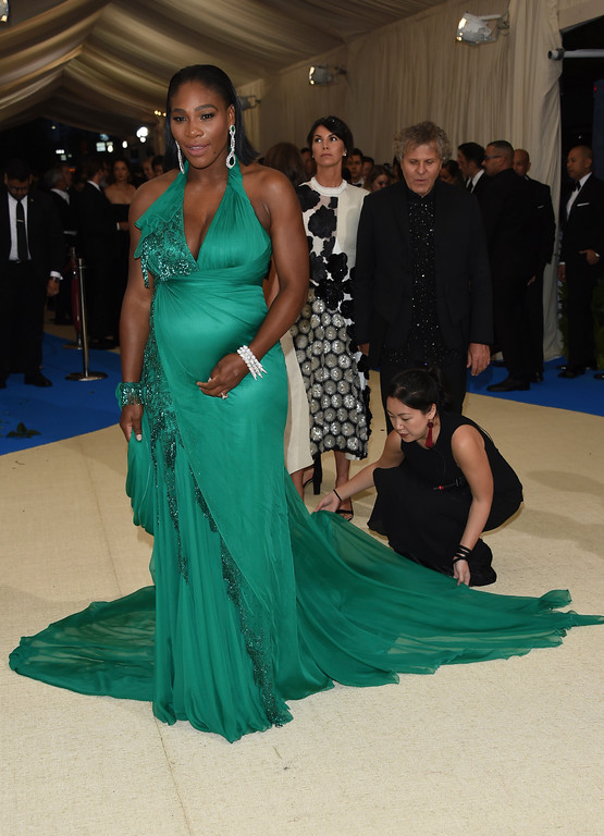 . Serena Williams attends The Metropolitan Museum of Art\'s Costume Institute benefit gala celebrating the opening of the Rei Kawakubo/Comme des Garçons: Art of the In-Between exhibition on Monday, May 1, 2017, in New York. (Photo by Evan Agostini/Invision/AP)