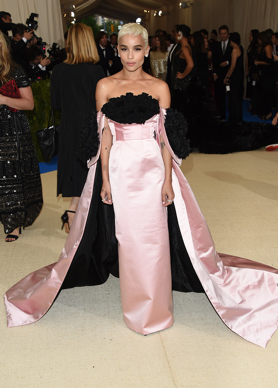 . Zoe Kravitz attends The Metropolitan Museum of Art\'s Costume Institute benefit gala celebrating the opening of the Rei Kawakubo/Comme des Garçons: Art of the In-Between exhibition on Monday, May 1, 2017, in New York. (Photo by Evan Agostini/Invision/AP)