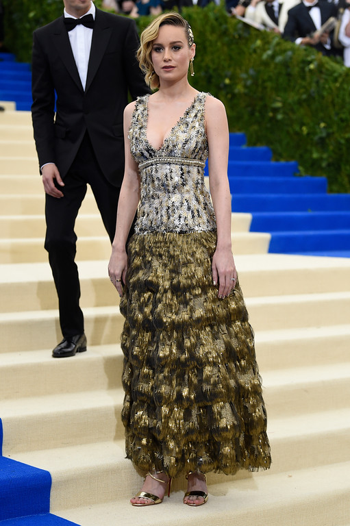 . Brie Larson attends The Metropolitan Museum of Art\'s Costume Institute benefit gala celebrating the opening of the Rei Kawakubo/Comme des Garçons: Art of the In-Between exhibition on Monday, May 1, 2017, in New York. (Photo by Evan Agostini/Invision/AP)