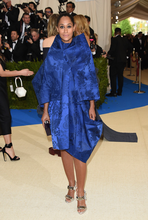 . Tracee Ellis Ross attends The Metropolitan Museum of Art\'s Costume Institute benefit gala celebrating the opening of the Rei Kawakubo/Comme des Garçons: Art of the In-Between exhibition on Monday, May 1, 2017, in New York. (Photo by Evan Agostini/Invision/AP)