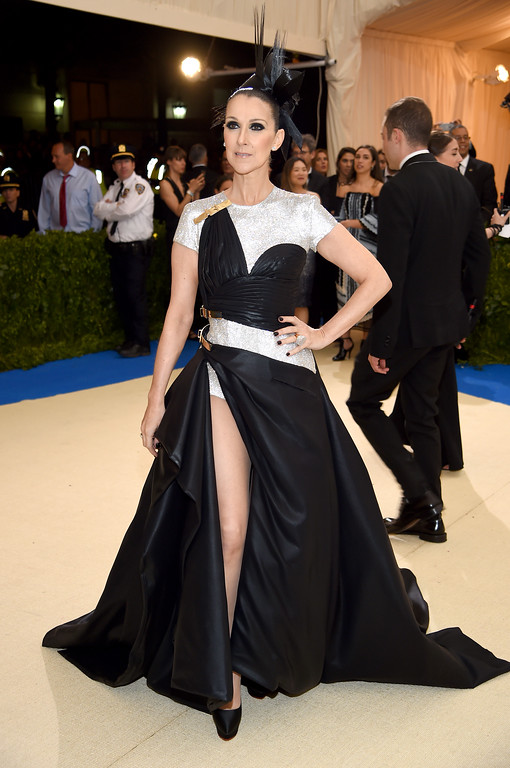 """. NEW YORK, NY - MAY 01:  Celine Dion attends the \""""Rei Kawakubo/Comme des Garcons: Art Of The In-Between\"""" Costume Institute Gala at Metropolitan Museum of Art on May 1, 2017 in New York City.  (Photo by Dimitrios Kambouris/Getty Images)"""